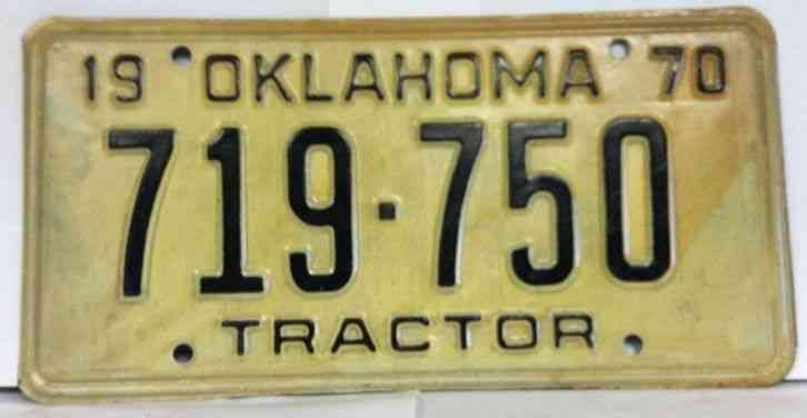 Tractor License Plates : Oklahoma tractor license plate ok