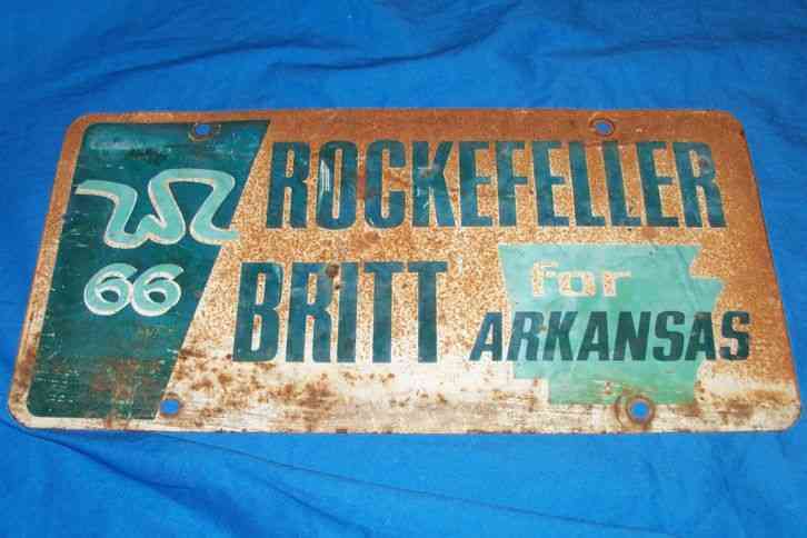 Old 1966 rockefeller arkansas governors race auto car for Florida fishing license military