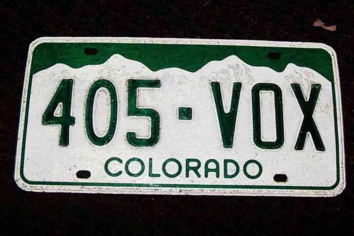 one old colorado license plate for car track van bus 12 x. Black Bedroom Furniture Sets. Home Design Ideas