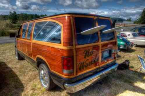 Other Makes Ford Woody Surf Tiki Van Awesome 1999 This
