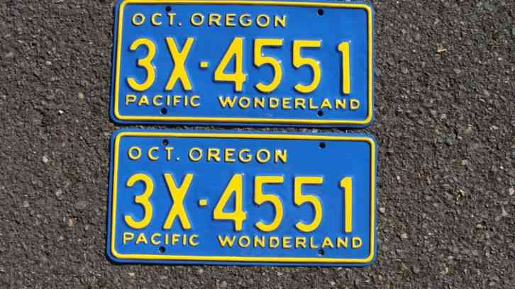 Oregon navy veteran or military graphic license plate free for Free fishing license for veterans
