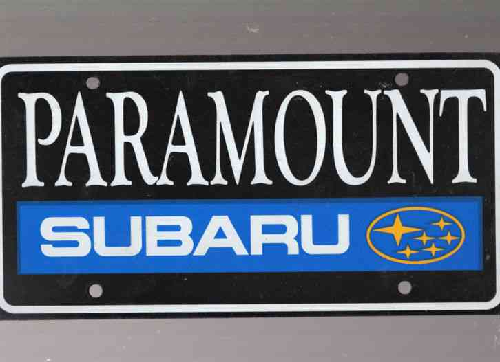 paramount subaru dealership license plate car tag north. Black Bedroom Furniture Sets. Home Design Ideas