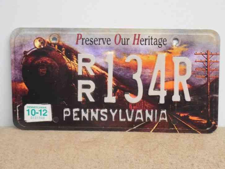 Rhode Island License Plate >> Pennsylvania Preserve Our Heritage RAILROAD license plate