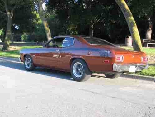 plymouth duster 1973 340 factory sunroof gk6 autumn bronze car for sale. Black Bedroom Furniture Sets. Home Design Ideas