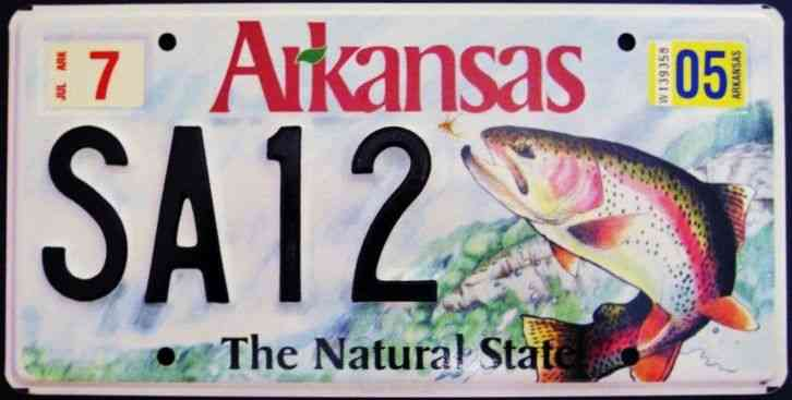 Rare arkansas wildlife trout fish natural state license for Kansas out of state fishing license