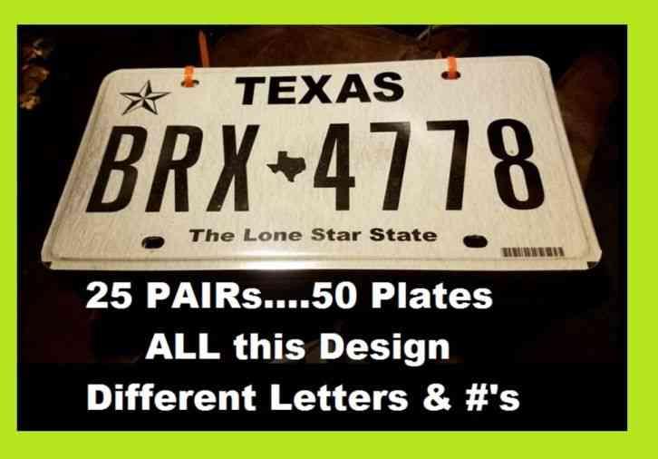RESTORED 1952 Texas License Plates
