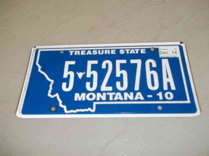 State Of Montana 2010 552576a License Plate