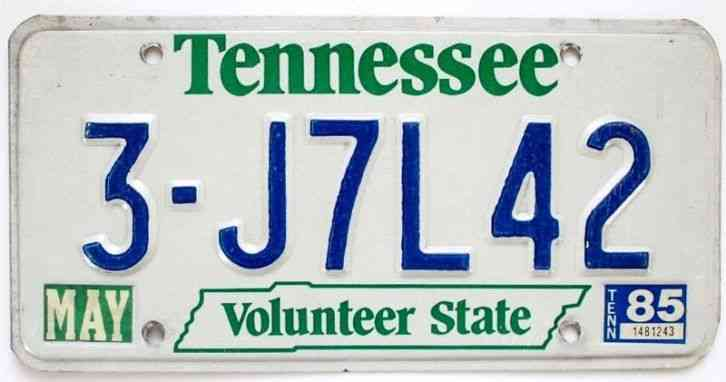 489 qwg 2000 polk county tennessee license plate 4 00 for Polk county motor vehicle registration