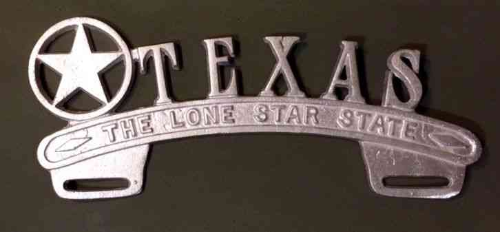 Cars For Sale In Nebraska >> Texas License Plate Topper Lone Star State