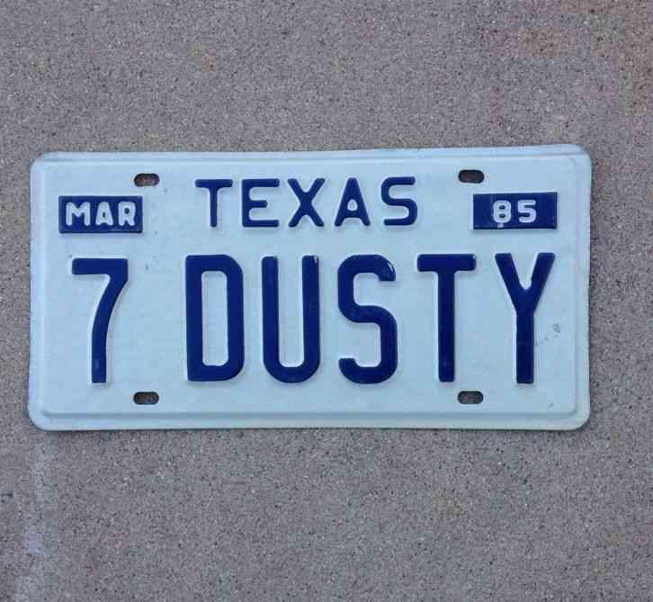 Texas Vanity License Plate