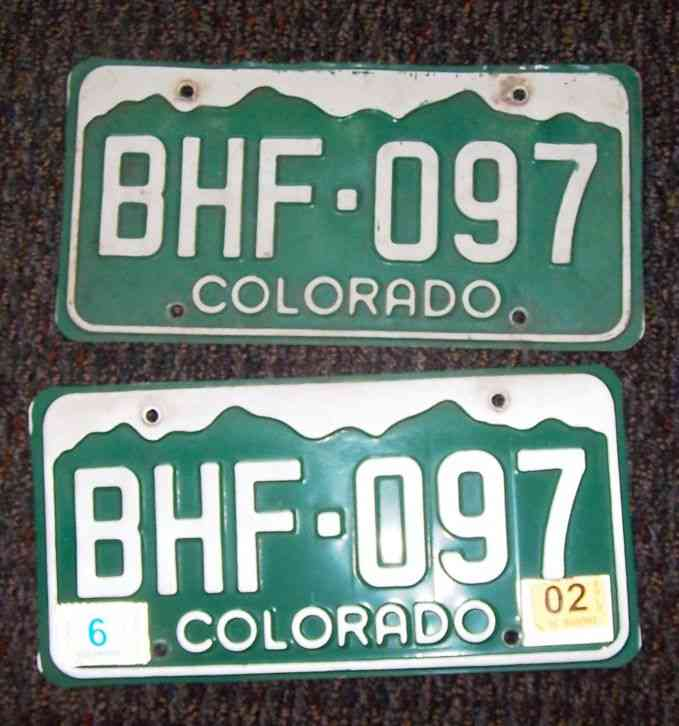 two old colorado license plate for car track van bus 12 x. Black Bedroom Furniture Sets. Home Design Ideas