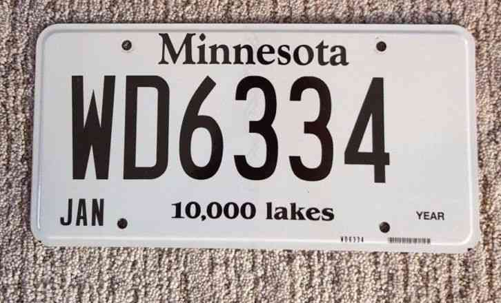 U S License Plates Minnesota Dwi Whiskey License Plate