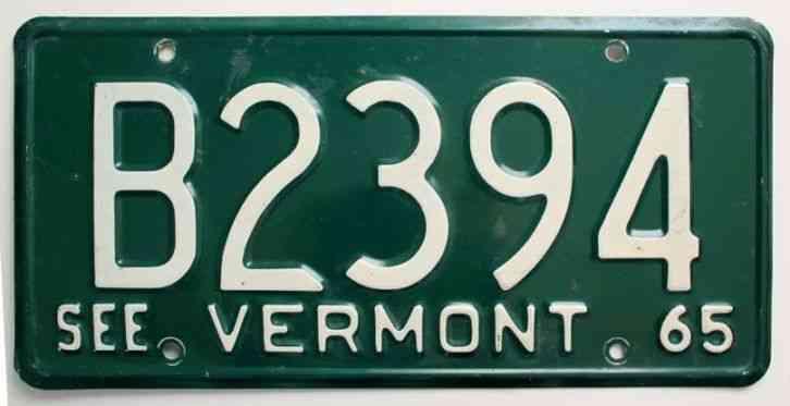 Man Cave Decor For Sale : Vermont license plate antique automobilia man cave