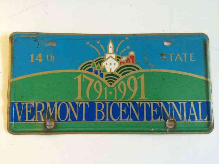 Vintage 1791 1991 Vermont Bicentennial Car License Plate