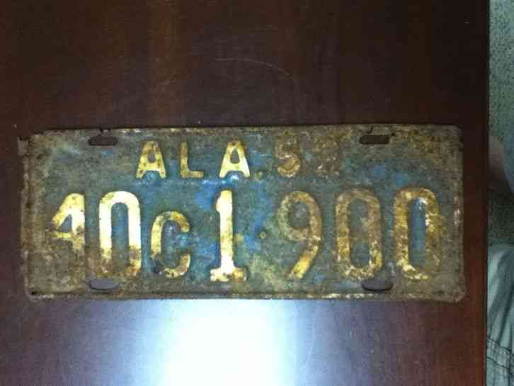 Vintage 1952 lamar county alabama license plate for Michigan fishing license prices