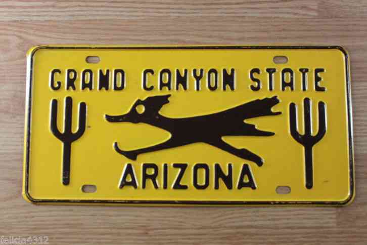 Arizona State License Plate >> VINTAGE 1960s ARIZONA LICENSE PLATE GRAND CANYON STATE