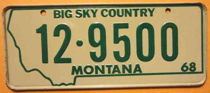 1976 montana license plate with 1978 sticker 4 11682 for How much is a fishing license in new mexico