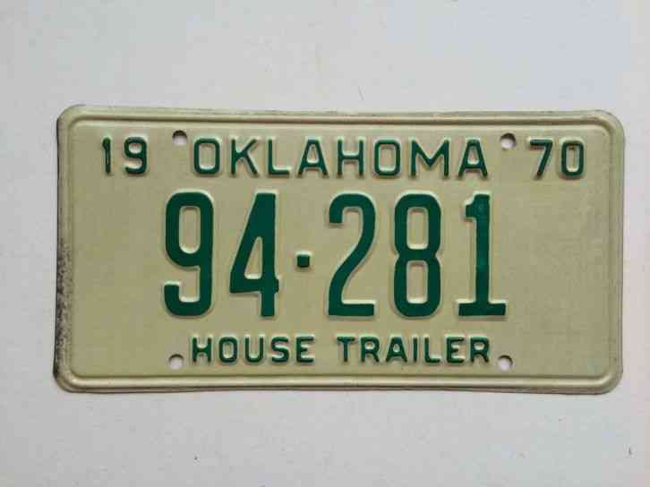 Tractor License Plates : Vintage oklahoma tractor license plate mint
