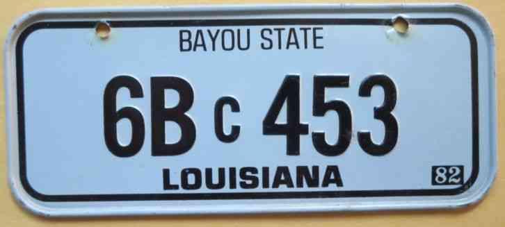 Vintage 1982 Louisiana Post Cereal Mini Bike State License