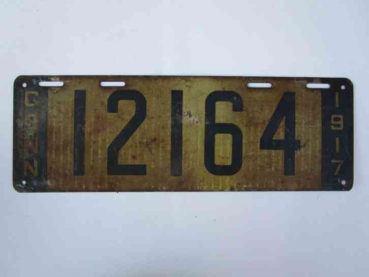 Old Connecticut License Plates Vintage Connecticut