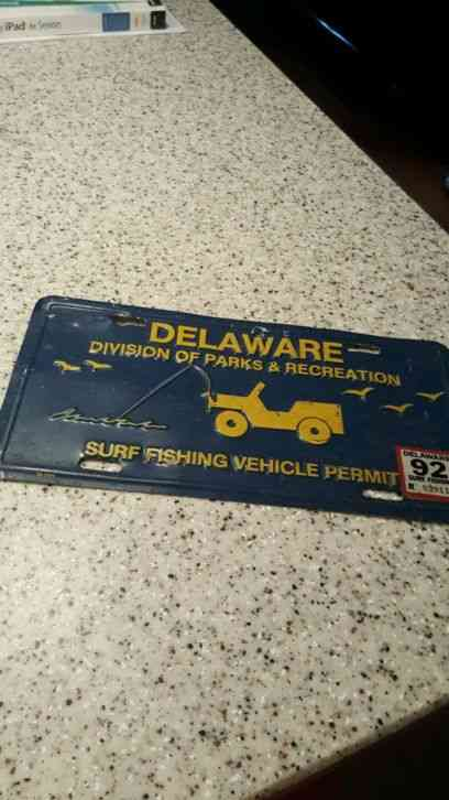 Vintage delaware surf fishing tag for Pa fishing license prices