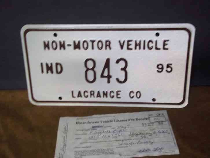 Vintage indiana lagrange county indiana 1995 non motor for Iowa motor vehicle laws
