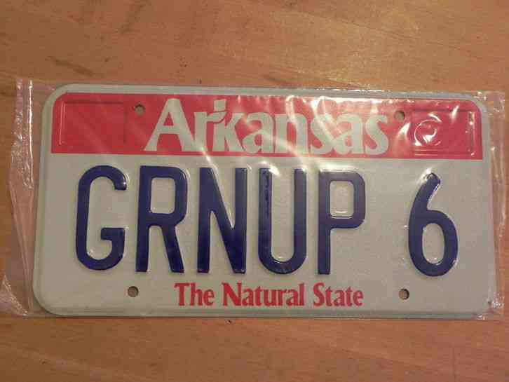 Vintage license plate arkansas grnup 6 for Tn fishing license cost