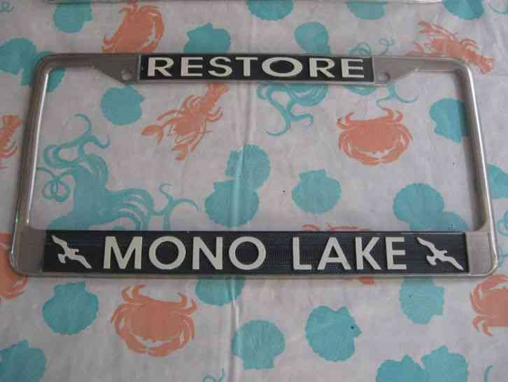 Vintage Metal Restore Mono Lake California License Plate