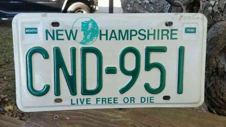 Vintage New Hampshire Live Free Or Die License Plate