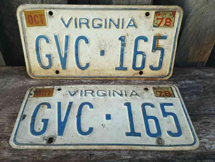 vintage license plates virginia