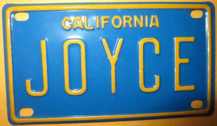 Vintage Personalized California Joyce Mini Bike Bicycle