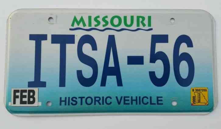 Vintage Vanity License Plate Sign Exp OO Missouri ITSA