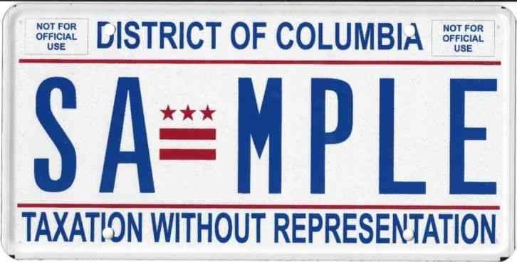 Washington Vanity License Plate