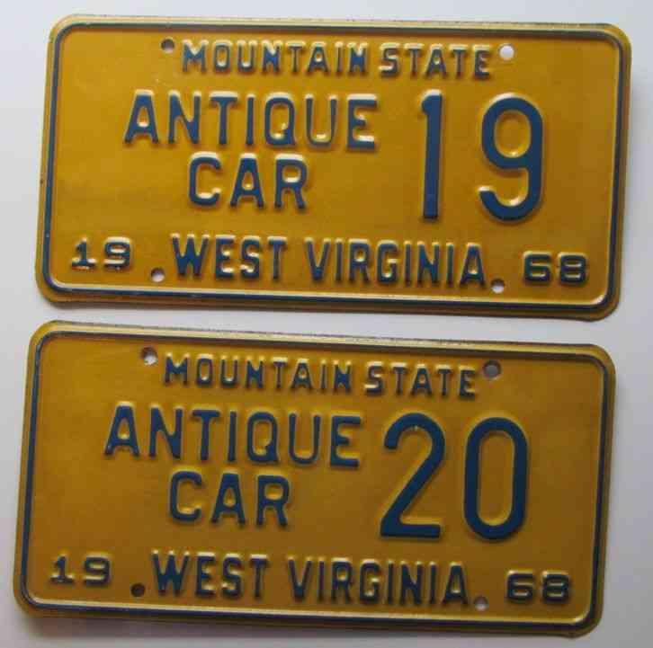 Generous Va Antique Plates Contemporary - Classic Cars Ideas ...