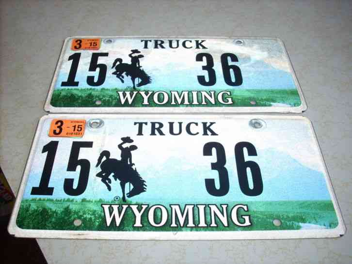 Wyoming License Plates Truck