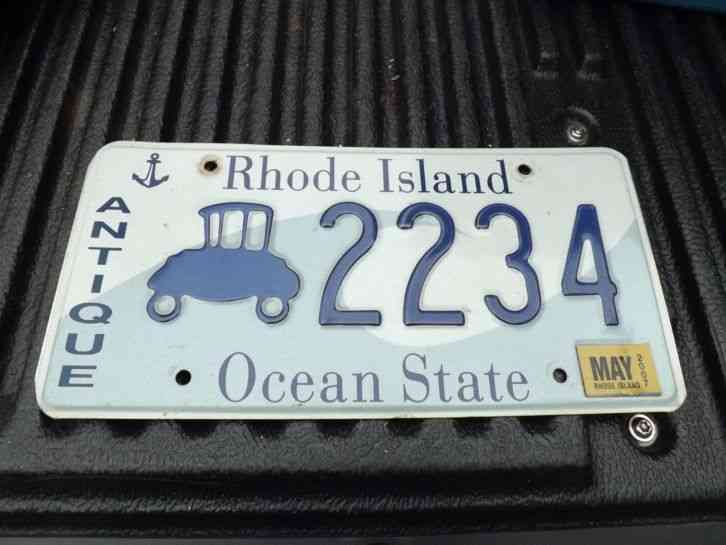 & 1 Rhode Island License Plates Expired Wave Plate ANTIQUE