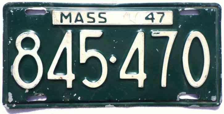 Ma Car Registration: Massachusetts 1966 License Plate Garage NOS Vintage 1960s