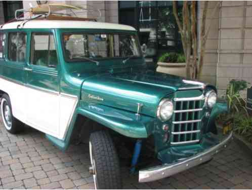 1961 Willys Station Wagon green