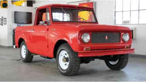 1962 International Harvester Scout 80 Pickup Half Cab