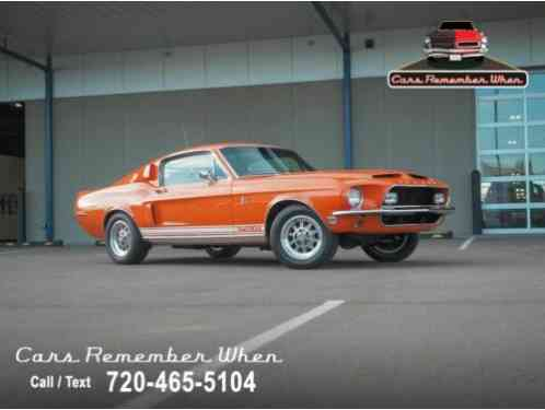 Shelby GT500 KR Rare Special Orange (1968)