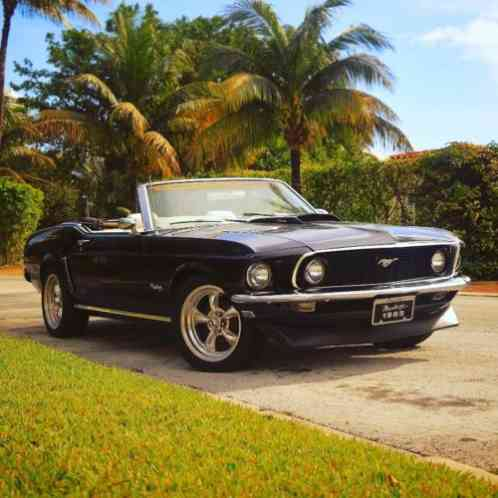 Ford Mustang 1969 Black Extremely Rare With White Interior Miami