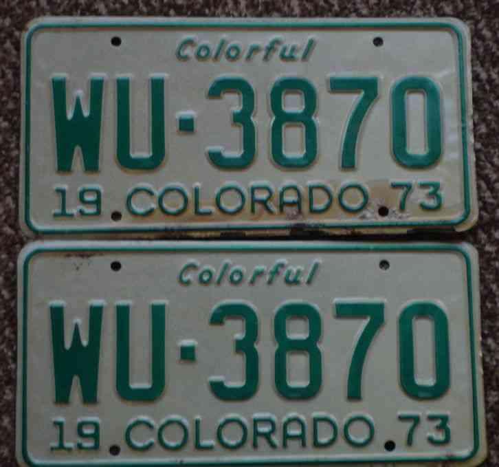 1926 Colorado Passenger Car License Plate