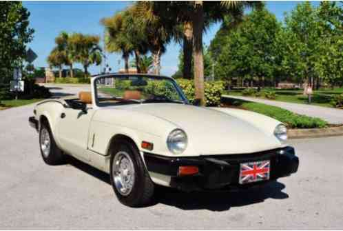1980 Triumph Spitfire Roadster 2 Tops 58K Miles Immaculate