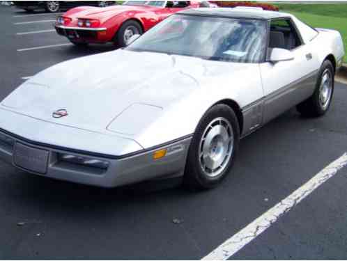 Chevrolet Corvette silver and gray (1987)