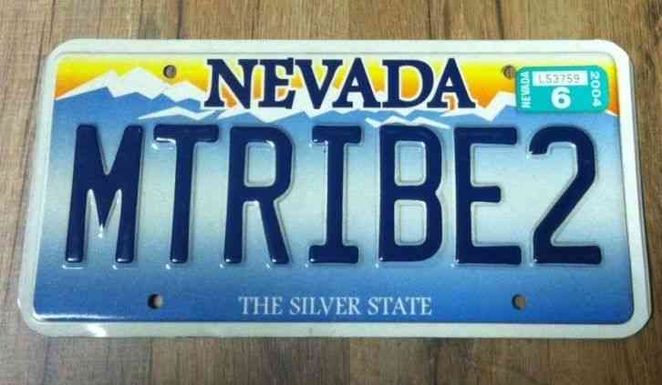 State Of Nevada License Plate