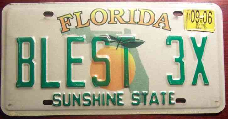 Florida Personalized License Plates >> 2006 Florida Vanity Personalized License Plate Auto Tag