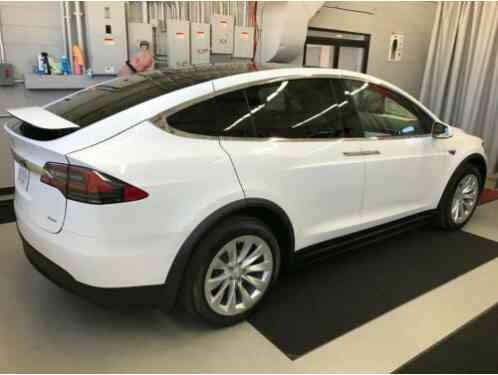 2016 Tesla Model X White on White