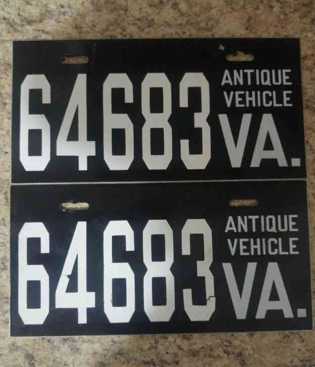 Antique Vehicle Liscence Plates Virginia