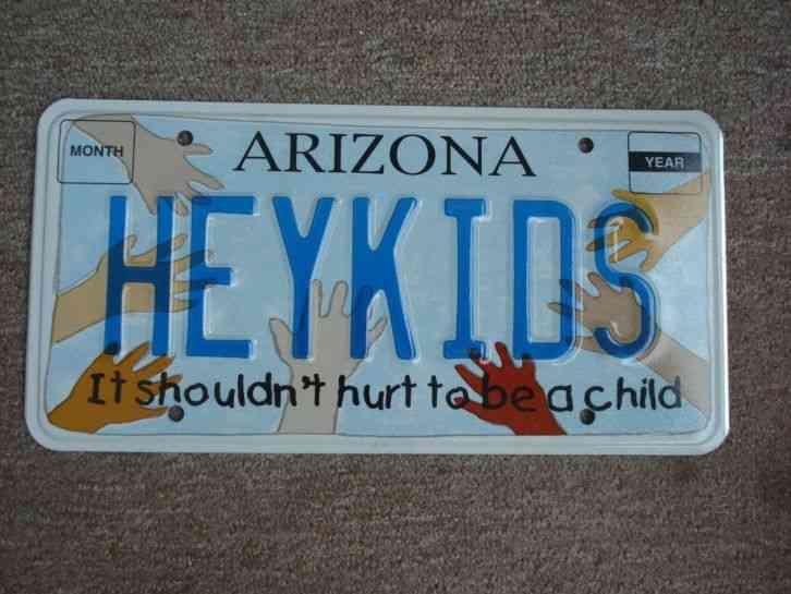 Arizona Personalized Plates >> Arizona Personalized License Plate Heykids