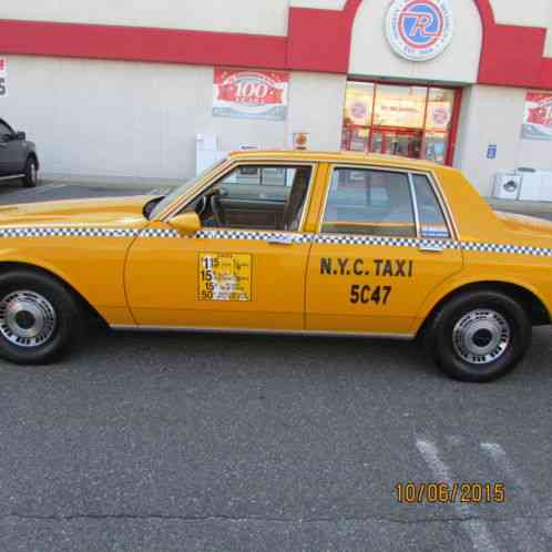 Chevrolet Caprice Nyc Taxi Period Correct 1987